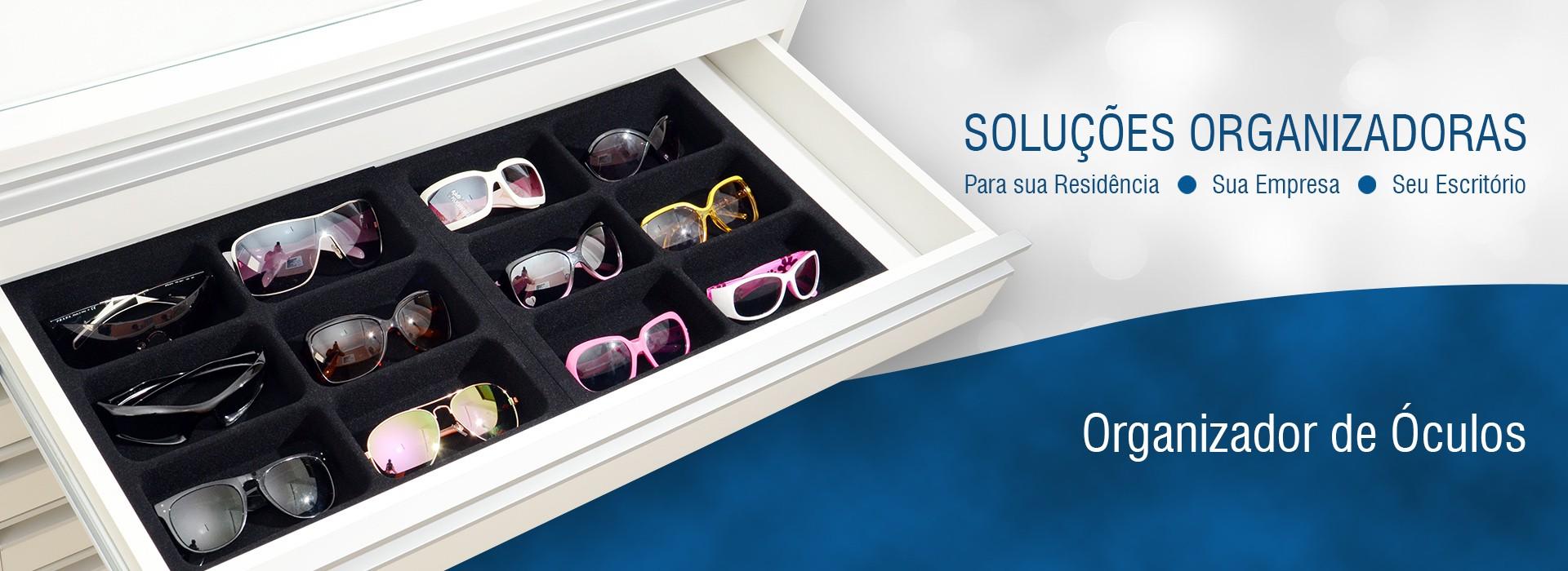 Organizador de Óculos Aveludado